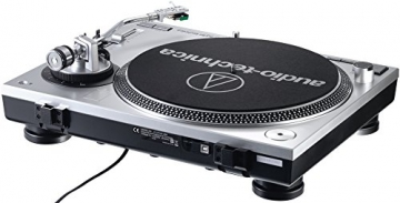 Audio Technica AT-LP120USBHC Plattenspieler mit Direktantrieb inkl. Tonabnehmer AT95E & Headshell AT-HS10 Farbe: Silber - 3