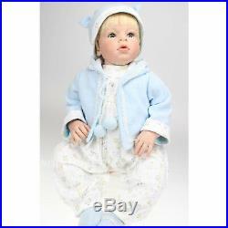28'' Lifelike Reborn Toddler Boy Doll Soft Vinyl Newborn Baby Doll Kids Toy Gift