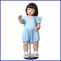 70CM Child Model Reborn Baby Dolls Toddler Girl Full Vinyl Realistic Reborn Doll