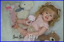 CUSTOM ORDER! Reborn Doll Baby Girl Toddler Adele by Ping Lau Human Hair