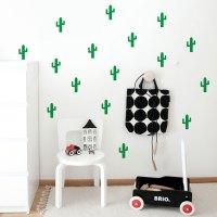 Cactuses Pattern Wall Decal - Geometrical Wall Patterns ...
