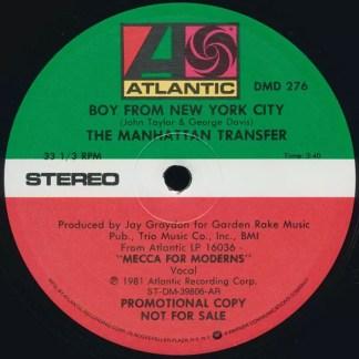 "The Manhattan Transfer - Boy From New York City (12"", Promo)"