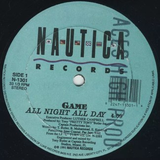 """Game (5) - All Night All Day (12"""")"""