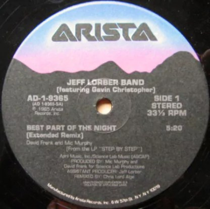 """Jeff Lorber Band* - Best Part Of The Night (12"""")"""