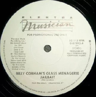 "Billy Cobham's Glass Menagerie - Jailbait (12"", Promo)"