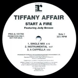 "Tiffany Affair Featuring Jody Breeze - Start A Fire (12"", Promo)"