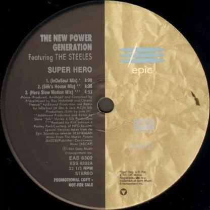 """The New Power Generation Featuring The Steeles - Super Hero (12"""", Promo)"""