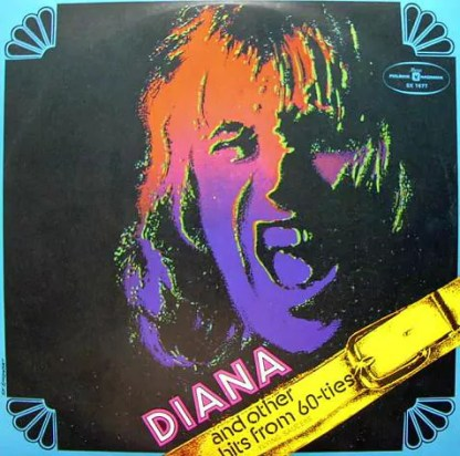Flying Saucers - Diana And Other Hits From 60-ties (LP, Album, Red)