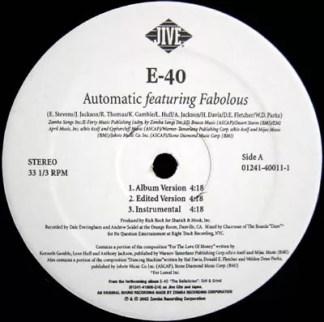 """E-40 - Automatic / Rep Yo City (12"""")"""