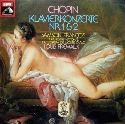 Chopin* - Samson François, Louis Frémaux, Orchestre National De L'Opéra De Monte-Carlo - Klavierkonzerte Nr. 1 & 2 (LP, Comp)