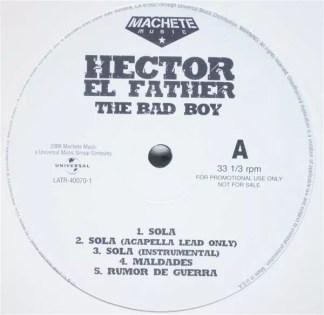 Hector El Father - The Bad Boy (LP, Promo)