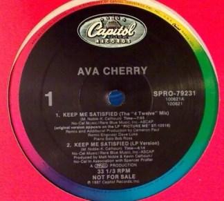 "Ava Cherry - Keep Me Satisfied (12"", Promo)"