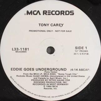 "Tony Carey - Eddie Goes Underground (12"", Single, Promo)"