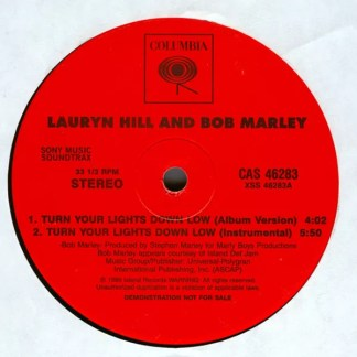 "Lauryn Hill & Bob Marley - Turn Your Lights Down Low (12"", Promo)"
