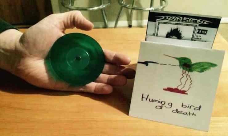 Hummingbird of Death/Transient 3 Inch Split auf grünem Vinyl