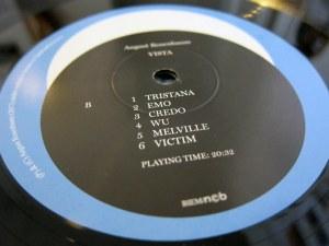 August Rosenbaum - Vista Vinyl Label