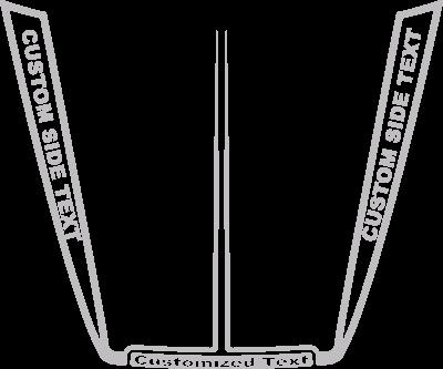 Dodge Charger SRT-8 Hood Decals : Vinyl Decal Graphic