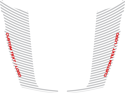 Dodge RAM 1500 Hockey Stick Hood Blackout Stripes : Vinyl