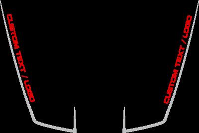 Jeep Grand Cherokee SRT Hood Hockey Stick Stripes : Vinyl