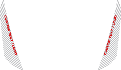 Jeep Grand Cherokee SRT Hood Side Blackout Stripes : Vinyl