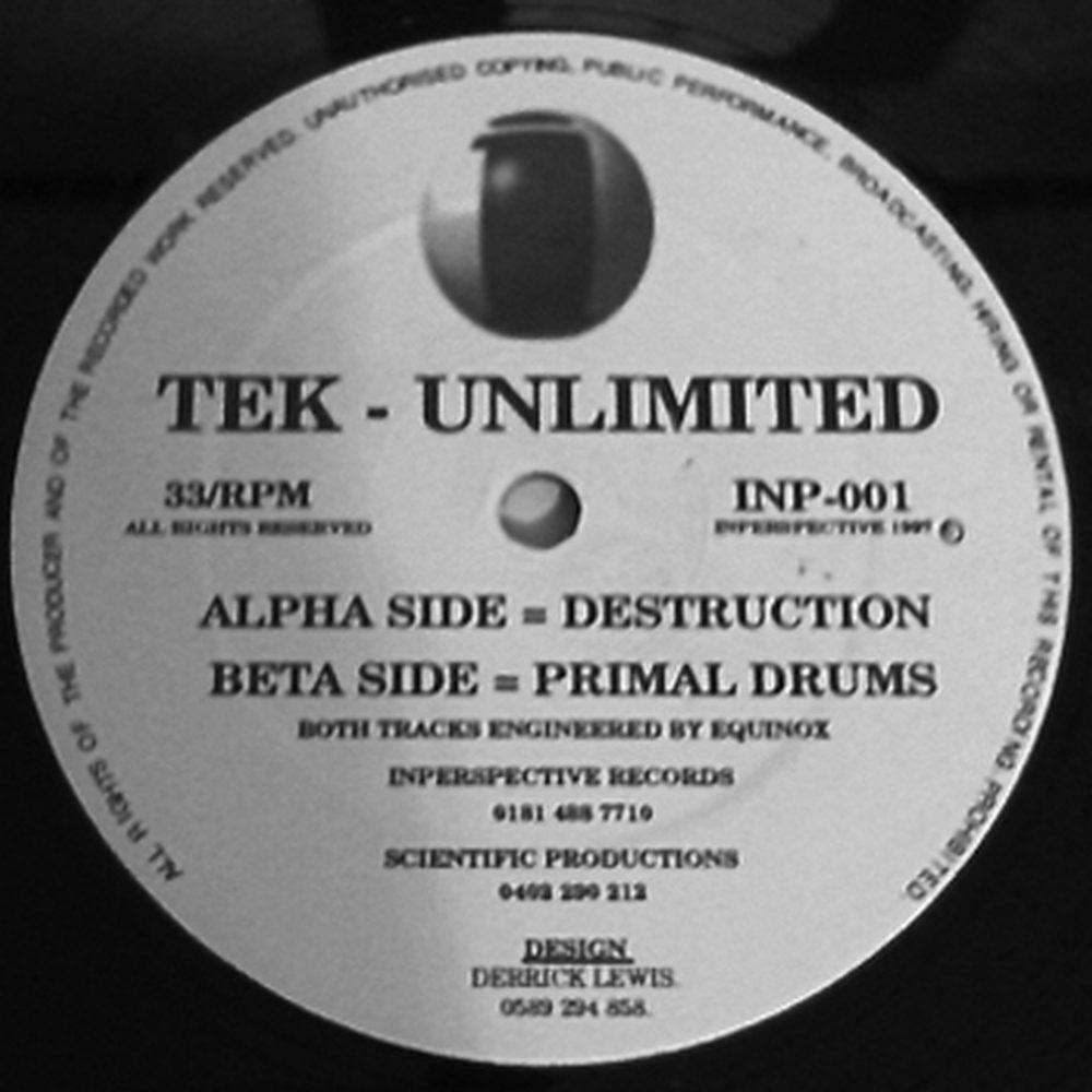 Tek Unlimited - Destruction / Tribal Drums