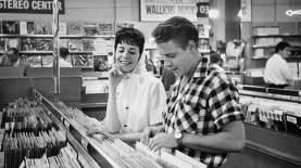 Rockabilly singer Mr Eddie Cochran and his fiancée, songwriter Ms Sharon Sheeley, shop for records in LA, late 1950s Douglas Kirkland: Corbis