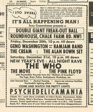 Melody Maker advert, 22 December 1966