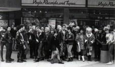 Punks at Virgin Store in Bristol