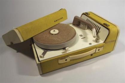 Philips portable record player, 1960