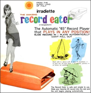The Record Eater '45 rpm' record player ad, 1967