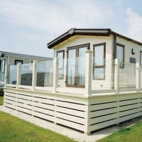Classic decking style with glass
