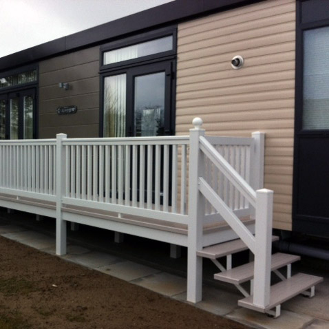 Caravan Decking Verandas And Railings Vinyl Solutions