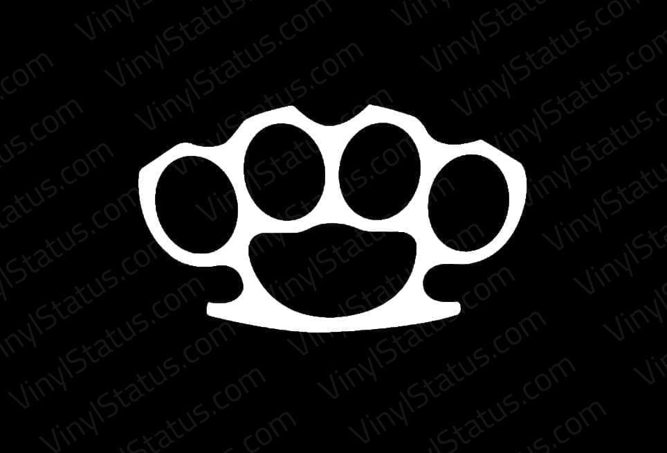 Brass Knuckles Sticker  Premium Quality  VINYL STATUS