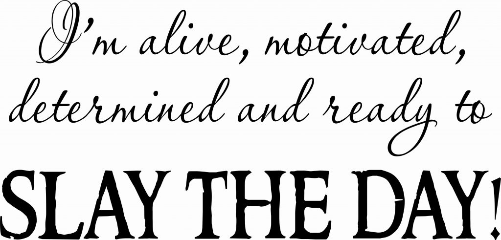 Slay The Day Motivational Wall Quote ~ Vinyl Wall Decals