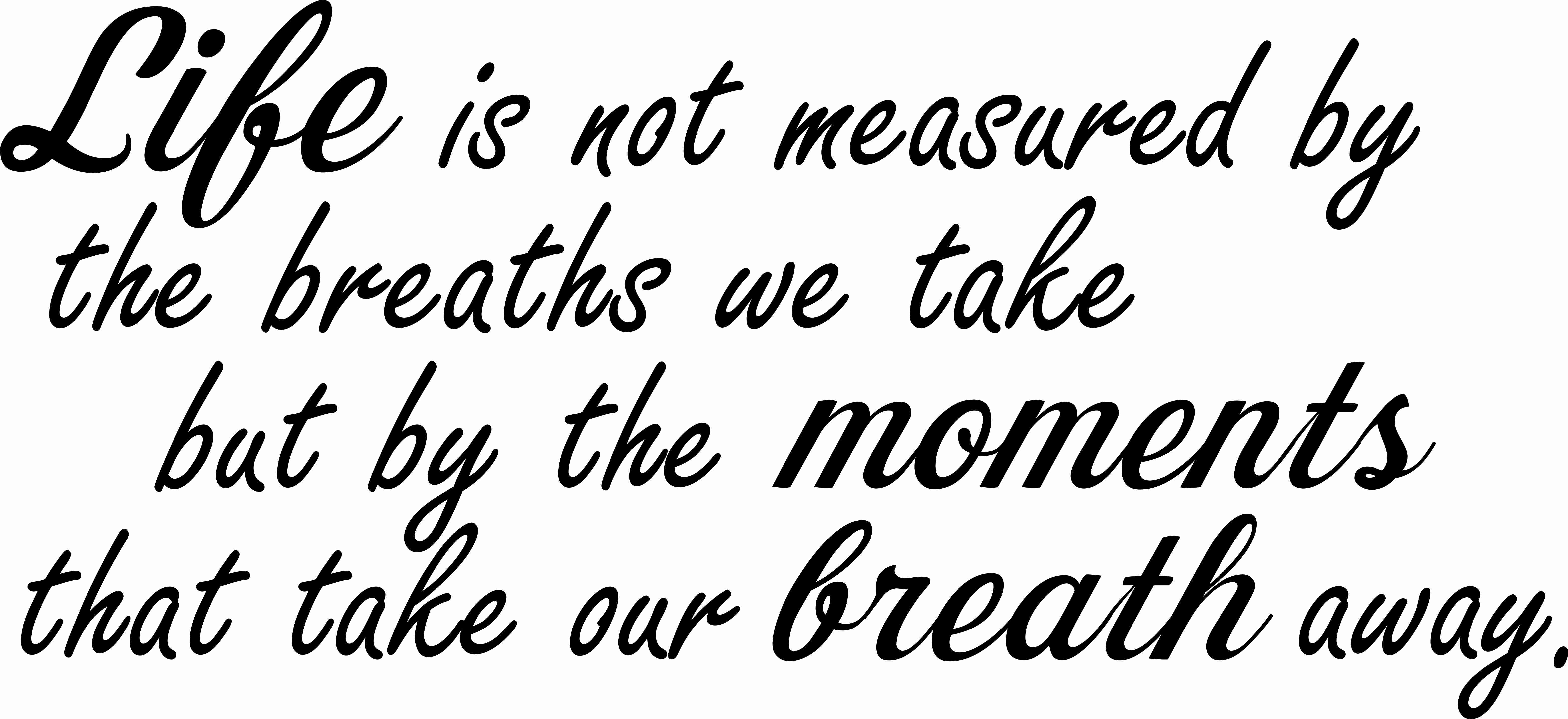 Life Is Not Measured Inspirational Vinyl Wall Decor