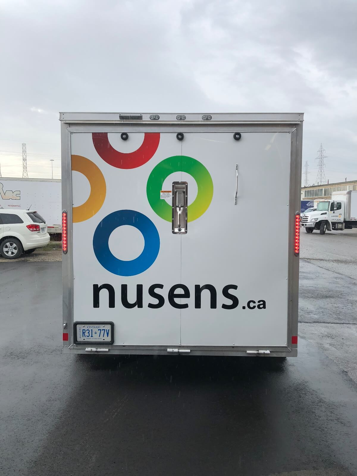 Trailer Wrap Toronto | Vehicle Lettering and decal | Nusens back trailer - Vinyl Wrap Toronto