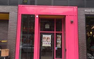 Storefront Wrap Toronto – Pink Vinyl