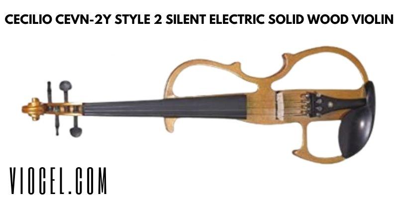 Cecilio CEVN-2Y Style 2 Silent Electric Solid Wood Violin