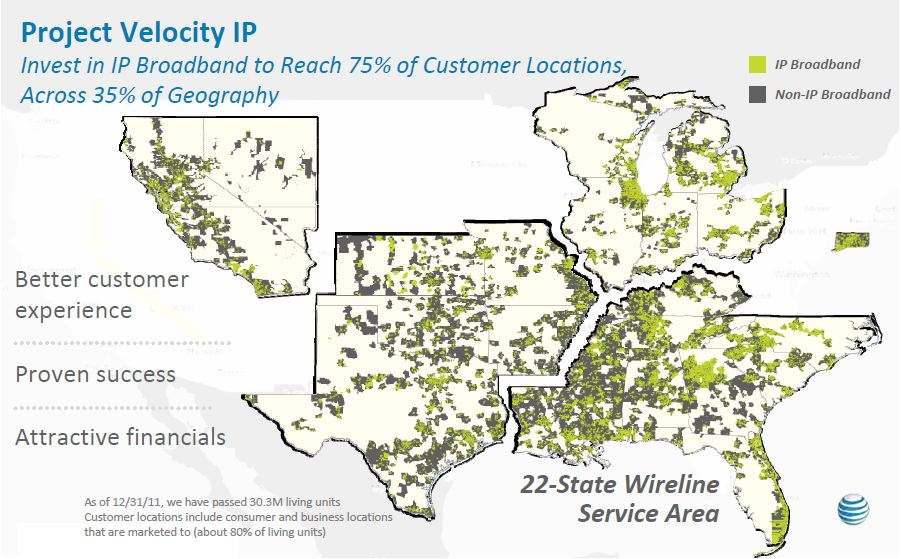 ATT To Expand UVerse IPDSLAM Bring Fiber To Commercial - Us fiber map