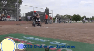 An image from the 2013 Challenger Jamboree held at Moreland Little League.