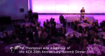 Dinner at the 2013 ACA Summit. One of the sponsors was the Pat Thompson Company.