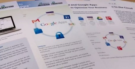 An ISP brochure featuring the benefits of Google Apps.