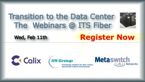 The informational graphic about the webinars that will be held at ITS Fiber.