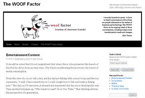 Click here to read more about the Woof Factor
