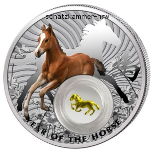 Niue Island 2$ Year of the Horse 2014 PP proof silver