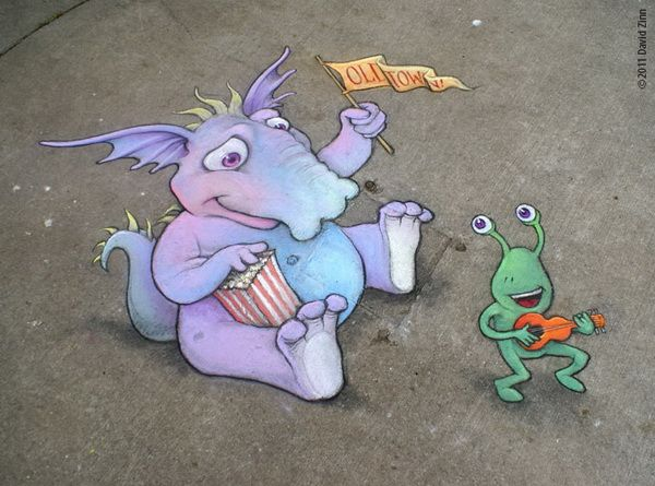 Amazing Side Walk Chalk Art