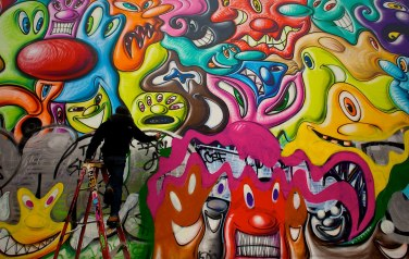 Graffiti Artist in Action 3