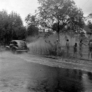Kids Playing After Rain Antigo, Wisconsin