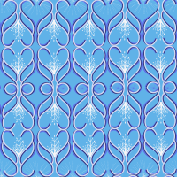 Fresh Blu Seamless Pattern Set