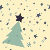 Blu Christmas Seamless Pattern Set